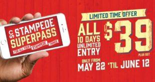 Julio 7 al 16 2017 - Calgary - Stampede SuperPass