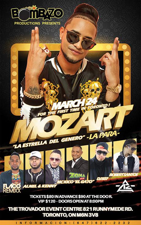 Sabado Marzo 24-2018 - Mozart La Para en concierto- Eventos Toronto Canada- Eventos @latincanada.ca